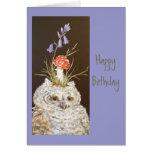 Tarjeta de cumpleaños del Owlet
