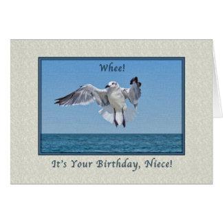 Tarjeta de cumpleaños del pájaro de la gaviota de
