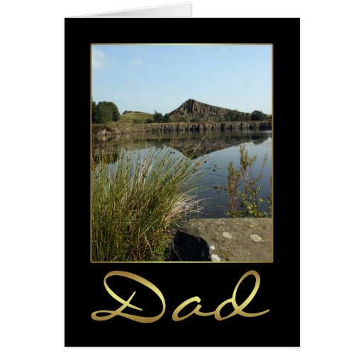 Tarjeta de cumpleaños del papá con paisaje fotográ