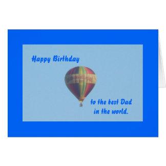Tarjeta de cumpleaños del papá del globo