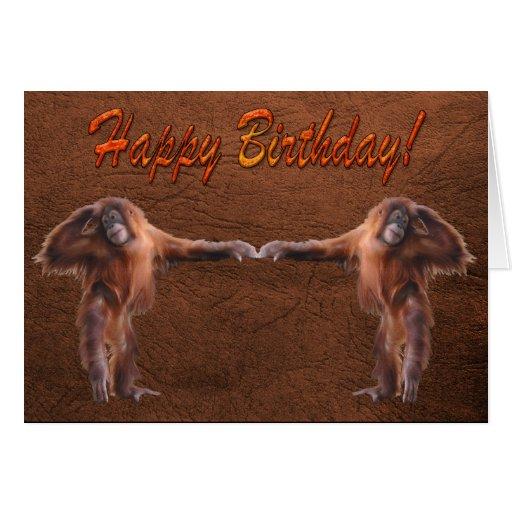 Tarjeta de cumpleaños del partidario de la fauna
