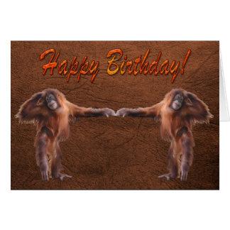 Tarjeta de cumpleaños del partidario de la fauna d