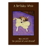 Tarjeta de cumpleaños del perrito del bote