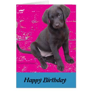 tarjeta de cumpleaños del perrito del laboratorio