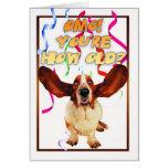 ¿tarjeta de cumpleaños del perro de afloramiento - tarjeta de felicitación