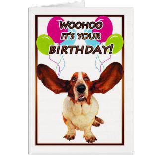 tarjeta de cumpleaños del perro de afloramiento -