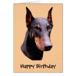 Tarjeta de cumpleaños del perro de la cara del Pin