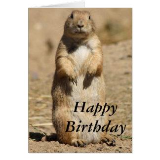 Tarjeta de cumpleaños del perro de las praderas
