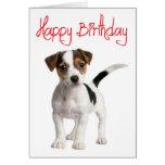 Tarjeta de cumpleaños del perro de perrito de Jack