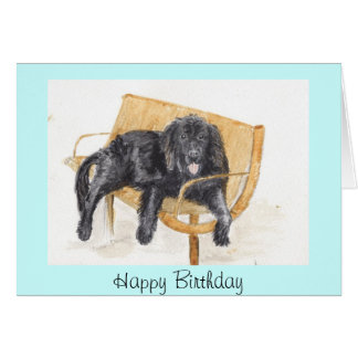 Tarjeta de cumpleaños del perro de Terranova