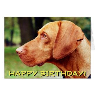 Tarjeta de cumpleaños del perro de Vizsla