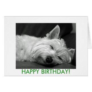Tarjeta de cumpleaños del perro de Westie