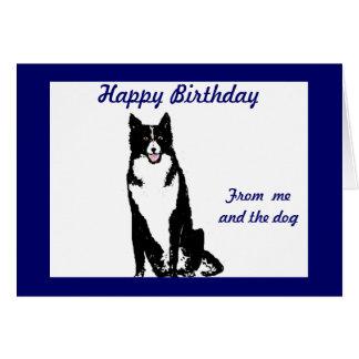 Tarjeta de cumpleaños del perro del collie