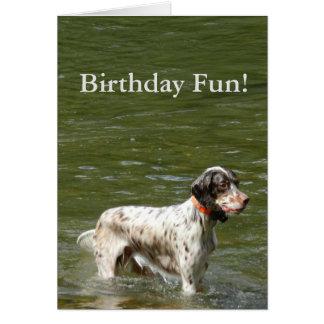 Tarjeta de cumpleaños del perro del organismo