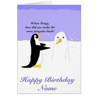 Tarjeta de cumpleaños del personalizar del