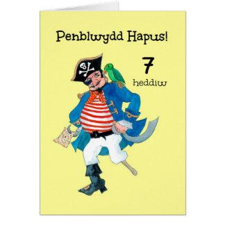 Tarjeta de cumpleaños del pirata para personalizar
