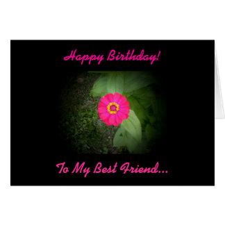 Tarjeta de cumpleaños del poema del mejor amigo