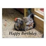 Tarjeta de cumpleaños del pollo
