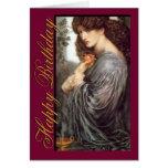 Tarjeta de cumpleaños del Pre-Raphaelite de Persep