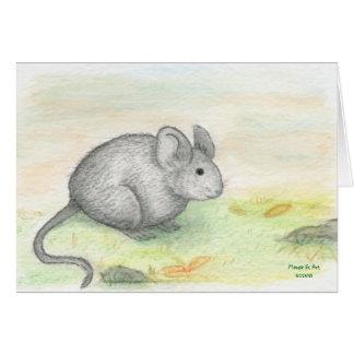 Tarjeta de cumpleaños del ratón