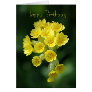Tarjeta de cumpleaños del recuerdo - flor salvaje