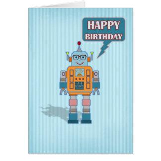 Tarjeta de cumpleaños del robot