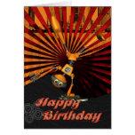 Tarjeta de cumpleaños del robot del monopatín