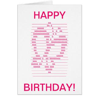 Tarjeta de cumpleaños del símbolo de la mariposa