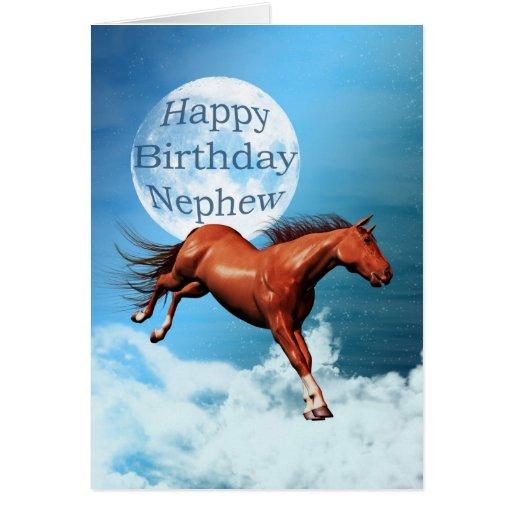 Tarjeta de cumpleaños con caballos - Imagui