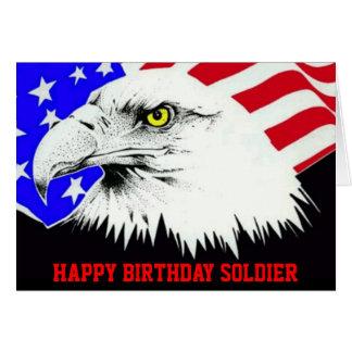 Tarjeta de cumpleaños del soldado
