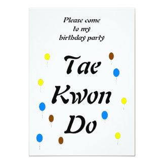 """Tarjeta de cumpleaños del Taekwondo Invitación 5"""" X 7"""""""
