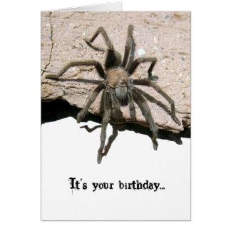 Tarjeta de cumpleaños del Tarantula