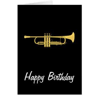 Tarjeta de cumpleaños del tema de la música de la