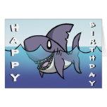 Tarjeta de cumpleaños del tiburón