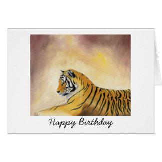 Tarjeta de cumpleaños del tigre de Bengala