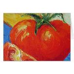 Tarjeta de cumpleaños del tomate