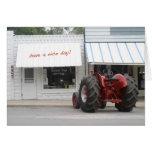 Tarjeta de cumpleaños del tractor