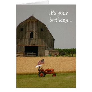 Tarjeta de cumpleaños del tractor ¡Hora de celebr