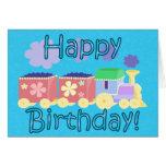 Tarjeta de cumpleaños del tren de Choo Choo