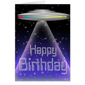 Tarjeta de cumpleaños del UFO