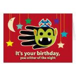 Tarjeta de cumpleaños del vampiro