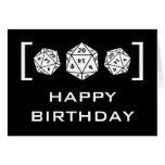 Tarjeta de cumpleaños del videojugador de los dado