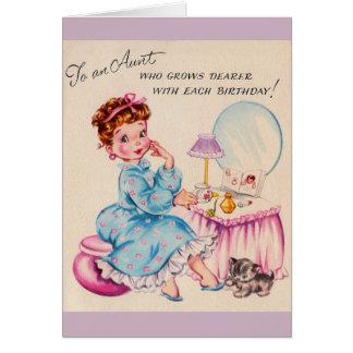 Tarjeta de cumpleaños del vintage para la estimada