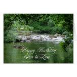 Tarjeta de cumpleaños del yerno que muestra un río