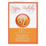 Tarjeta de cumpleaños del zodiaco de la diva para