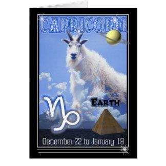 Tarjeta de cumpleaños del zodiaco del Capricornio
