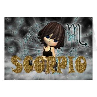Tarjeta de cumpleaños del zodiaco del escorpión co