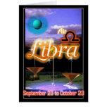 Tarjeta de cumpleaños del zodiaco del libra