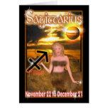Tarjeta de cumpleaños del zodiaco del sagitario