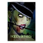 """Tarjeta de cumpleaños del zombi de la """"palabra seg"""